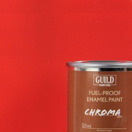 Guild Materials Matt Red Enamel Fuel-Proof Paint (125ml Tin) GLDCHR6301
